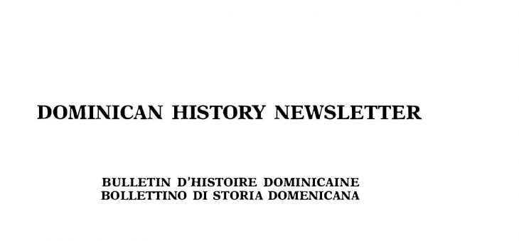 Dominican History Newsletter 1 (1992)