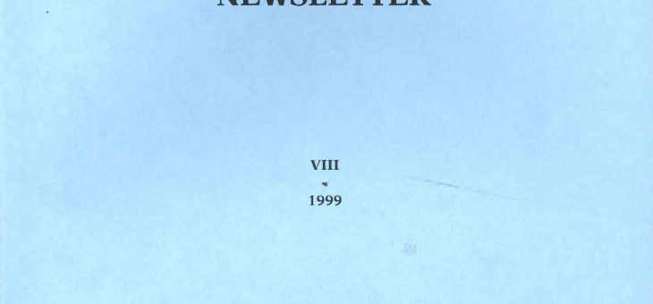 Dominican History Newsletter 8 (1999)