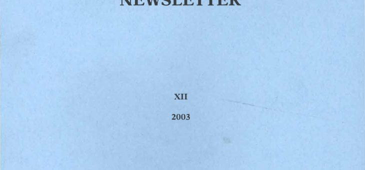 Dominican History Newsletter 12 (2003)