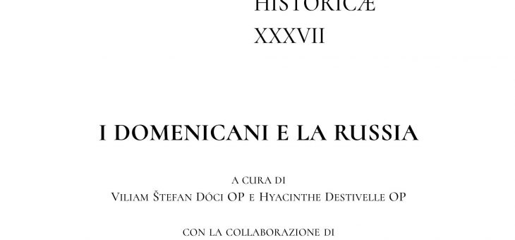 New Publication on the Relations between the Dominicans and Russia