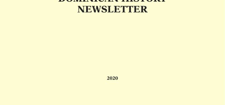 Dominican History Newsletter 2020
