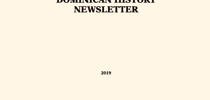Dominican History Newsletter 2019